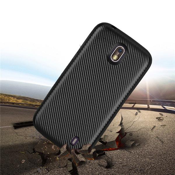 buy popular c9dc1 cdcda For Nokia 1 2018 Case Carbon Fiber Soft TPU Cover for Nokia 1 TA-1047  TA-1060 TA-1056 TA-1079 Matte Cases for Nokia 1
