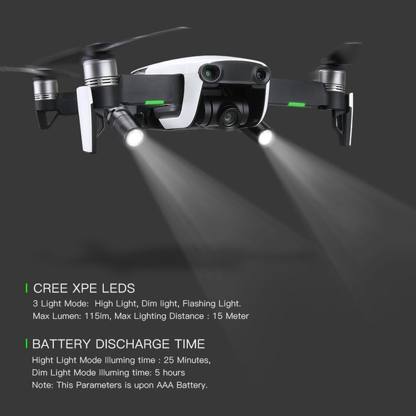 360 Degree Flashlight Headlamp Night Cruise Light LED Lamp For DJI MAVIC AIR