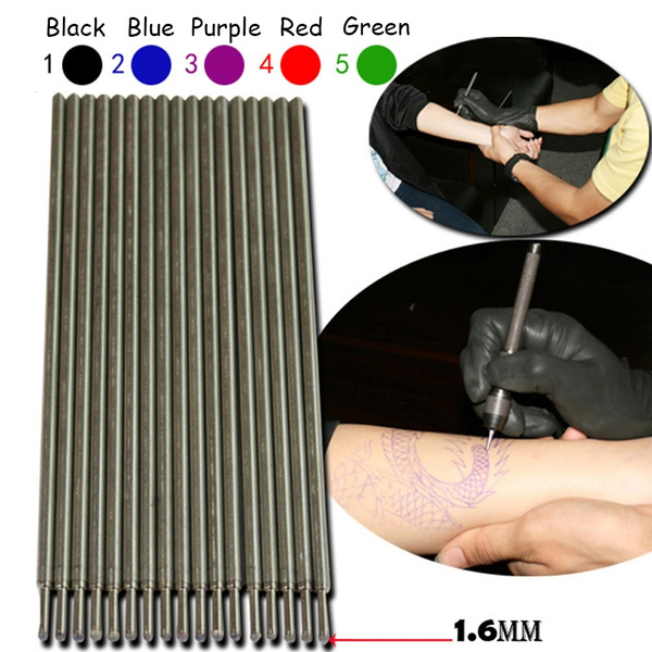 50 Tattoo ink pen tattoo brush transfer pen core skin markers are not easy  to fade