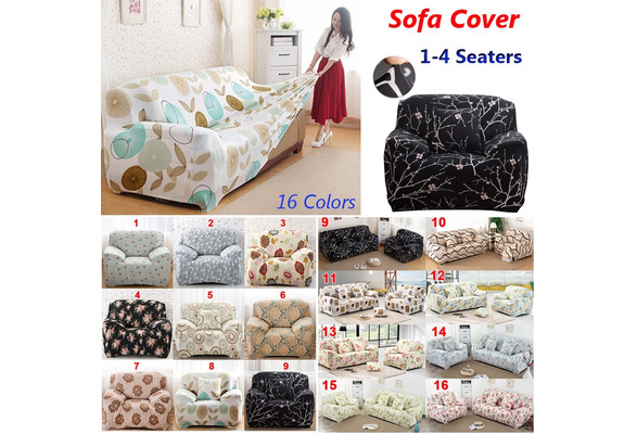 Fashion 1 4 Seaters Colorful Recliner Sofa Covers Retro Cover Soft Couch Slipcovers 16 Colors Wish
