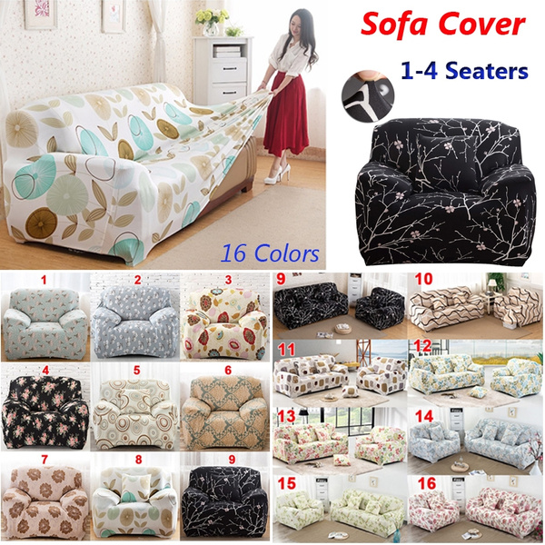 Fabulous Fashion 1 4 Seaters Colorful Recliner Sofa Covers Retro Recliner Sofa Cover Soft Couch Slipcovers 16 Colors Bralicious Painted Fabric Chair Ideas Braliciousco