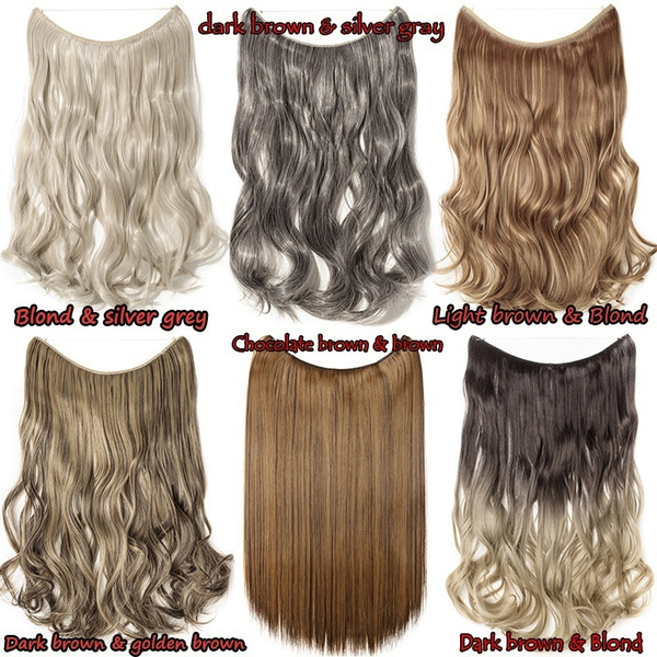 Wish S Noilite 20 Inches Invisible Wire No Clips In Hair