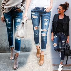 denimjeanswomen, trousers, Casual pants, women long pants