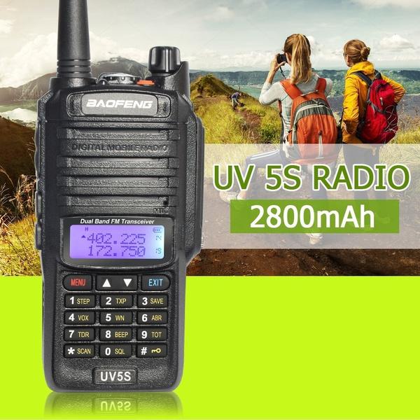 Baofeng UV-5S IP67 Waterproof Walkie Talkie Long Range Two Way Radio UHF  VHF Handheld Ham Radio Comunicador Portable CB Radio