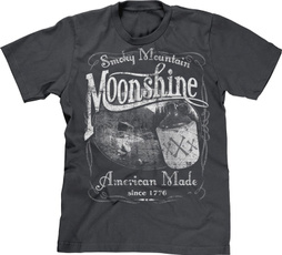 T Shirts, 1776, Men, moonshine
