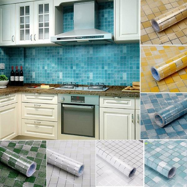 Kitchen & Dining, bathroomtilesticker, Home Decor, selfadhesivewallpaper