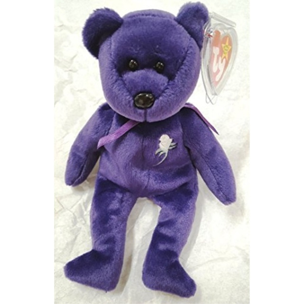 Ty Beanie Baby ~ PRINCESS the Diana Bear from 1997 ~ RARE /& RETIRED ~ MINT