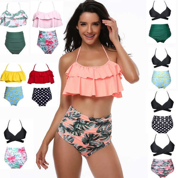 3429d9d1ae66 Women's Sexy Two Pieces Swimsuit Criss Cross Padded Floral Print ...