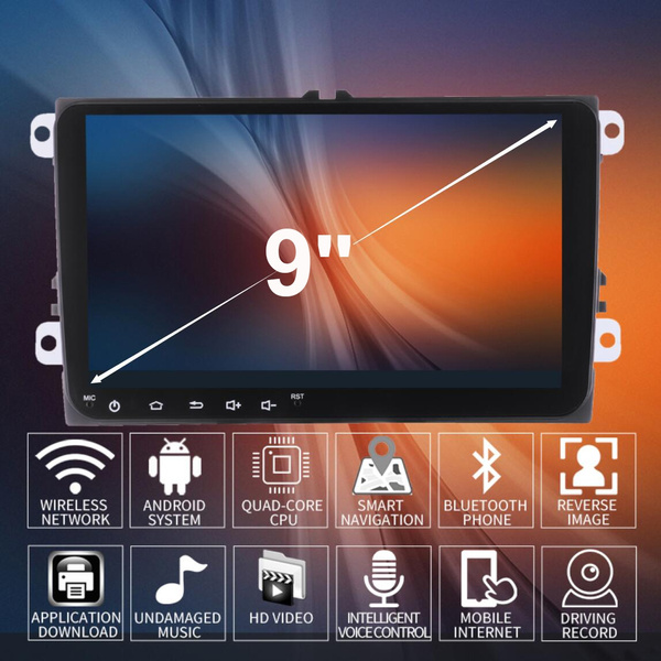 Myfuncars Cheap Gps Navigation 9 Inch IPS Touch Screen Vw Car Navigation  Android System Navigation  DVD/MP3/MP4/USB/SD/AM/FM/Radio/Bluetooth/Stereo/Aud
