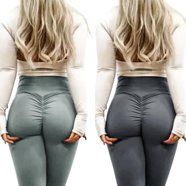605deae52 Hot Sale Summer 2018 Women's Fashion Butt Lift Stretchy Workout Gym ...