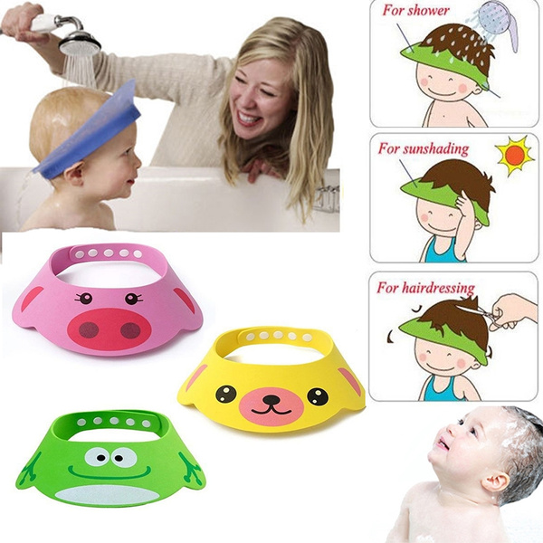 Circunferencia ajustable de la cabeza  34-50cm   13.38``X19.68 `` (apr.)  Paquete incluido  1 X gorro de baño para bebés 8606fd711e9