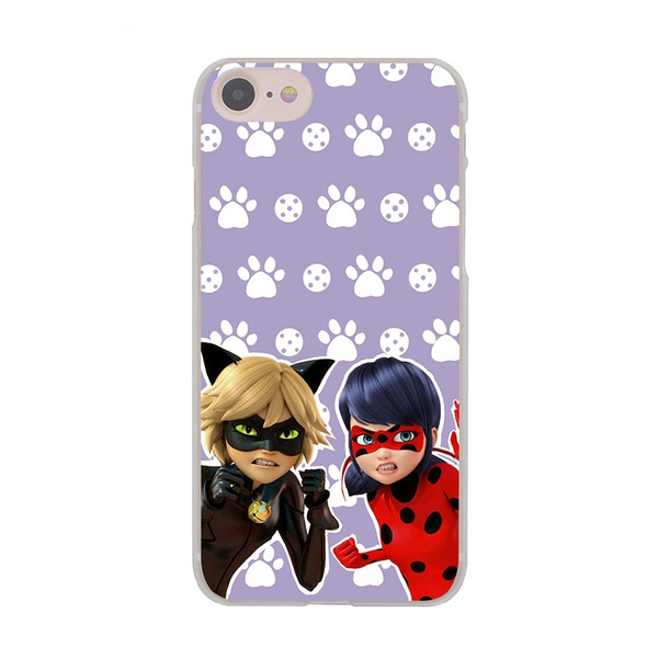 new arrival a920a df02e Miraculous Ladybug and Chat Noir Soft Silicon Phone Case Cover For iphone X  8 7 6 6s Plus 5 5S SE 5C