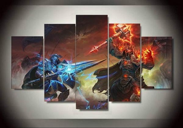 Wish | Art gifts 5 Piece Unfrramed World of Warcraft Warrior ...
