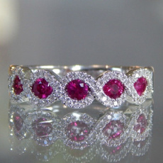 Sterling, DIAMOND, Infinity, wedding ring
