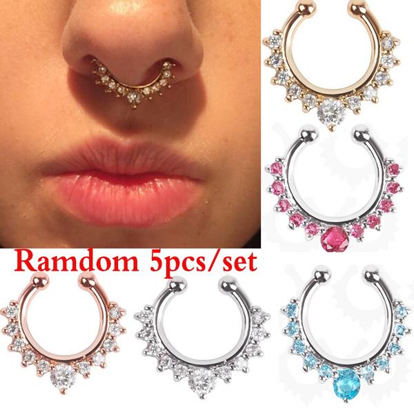 Women, crystal ring, Jewelry, body Piercing