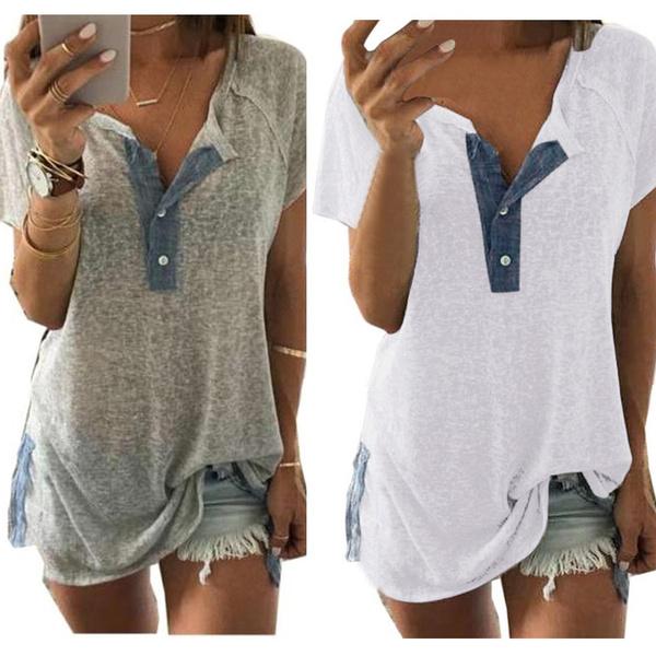 Plus Size, Cotton Shirt, Shirt, Sleeve
