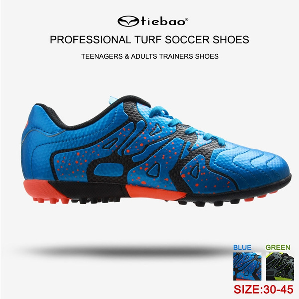 ada297d67 TIEBAO Professional Indoor Turf Cleats Soccer Shoes Football Trainers Hard  Ground Hook and Loop Breathable TF & AG Football Boots for Men Teenagers  Junior ...