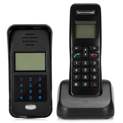 2.4GHz porte sans fil téléphone porte sonnette sonnette système d/'interphone avec combiné