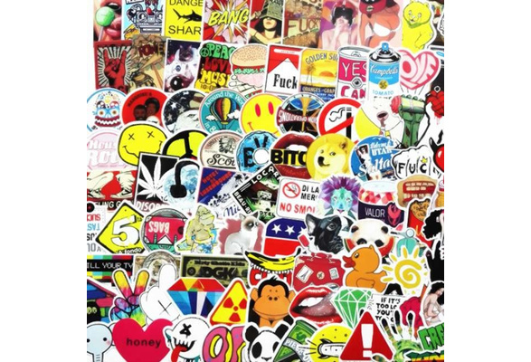 200 Piece Not Repeating Waterproof Stickers for The Car Skateboard Luggage Trolley Suitcase Mobile Phone Motorcycle Decoration 3M Decal Sticker