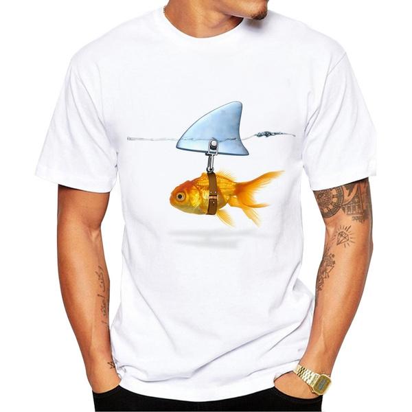 Shark, Funny T Shirt, tshirt men, fish