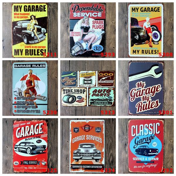 La Plaque De Métal Tin Signe Poster Vintage Rétro Déco Mur De