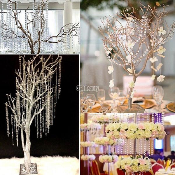 Wish | 1 Roll 33FT 10meters Curtain Diamond Strand Acrylic Crystal Bead Curtain Wedding DIY Party Craft Decor