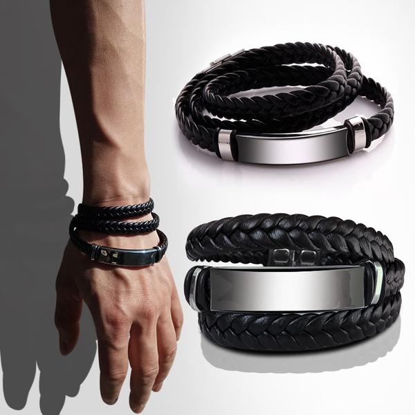 black bracelet, elegantbracelet, loverbracelet, leather