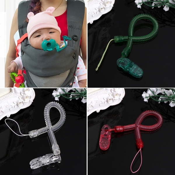 Baby Boys Girls Nipple Leash Strap Chain Clip Holder Dummy Pacifier Soother