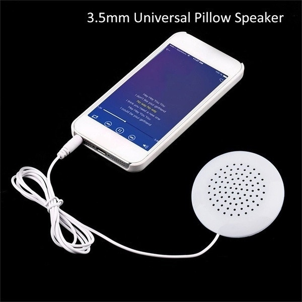New Portable 3 5mm Pillow Speaker for MP3 MP4 CD iPod Phone White Black  Friday Gift Cyber Monday