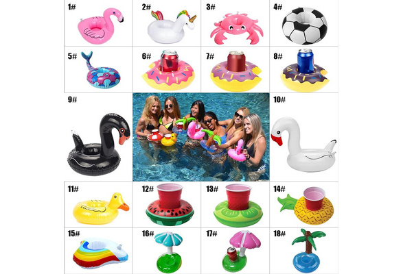 2/5/10Pcs 2018 Inflatable Drink Cup Holders Wedding Birthday Party Supply Swimming Pool Toys