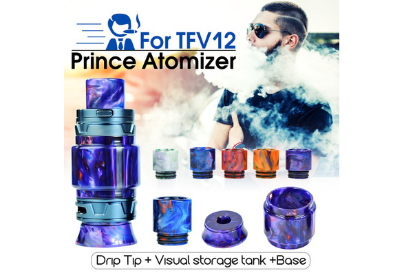 Electronic Cigarette TFV12 Prince Atomizer Drip Tip + Visual Storage Tank +  Base Kit Set