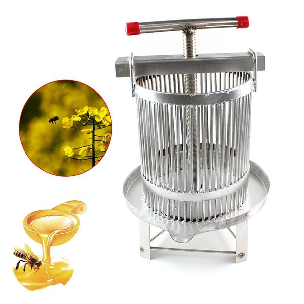 Stainless Steel Manual Honey Press Wax Press Beekeeping Tool Vertical Stripe