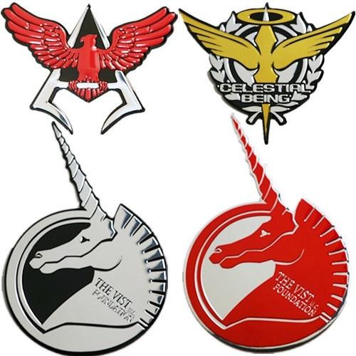 gundam anime gundam unicorn sticker itasha creative animation logo stickers metal car wish wish