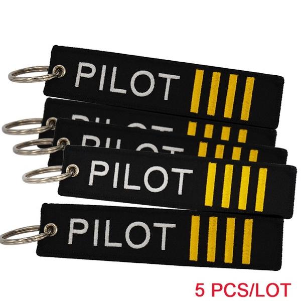 Pilot airplane belt With Pilot Keychain