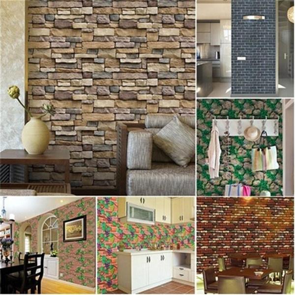 Marvelous Diy Brick Effect Tile Stickers Home Decor Kitchen Bathroom Wall Wallpaper Decal Download Free Architecture Designs Ogrambritishbridgeorg