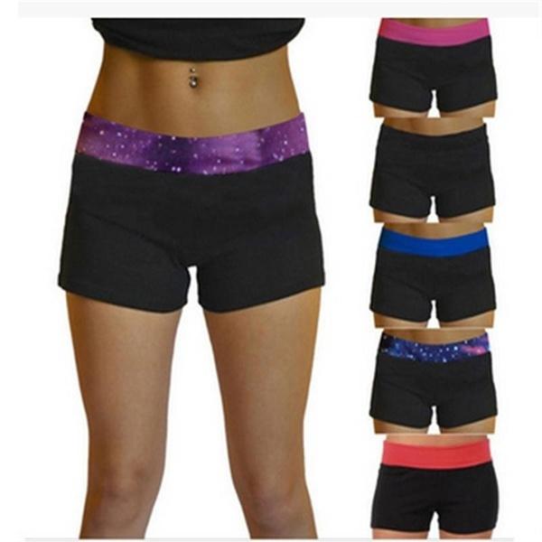 joggingshort, elastic waist, boxer briefs, womenyogashort