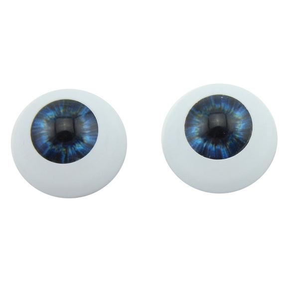 Sky Blue Reborn Baby dolls eyes 22mm Half Round Acrylic Eyes Newborn Doll Eyes