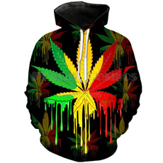 3D hoodies, Plus Size, Colorful, Tops