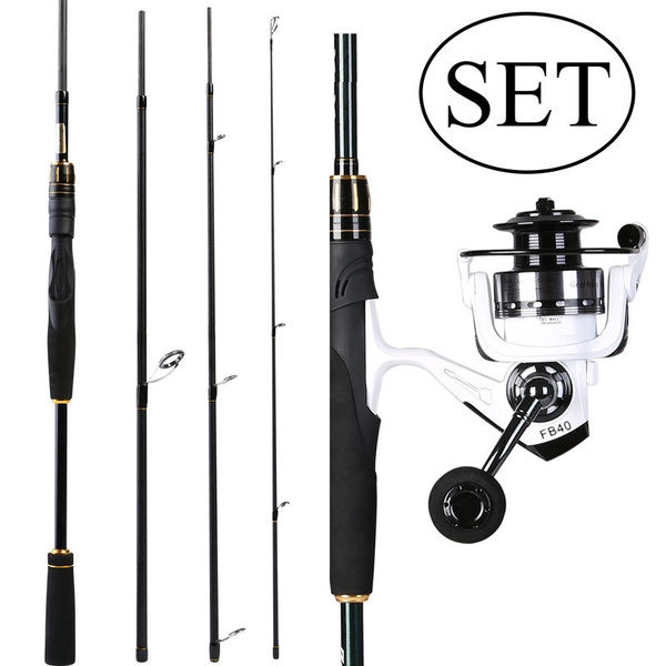 Sougayilang 2 1M or 2 4M Fishing Rod and Reel Carbon Fishing Spinning Combo  for Trout Salmon Bass Fishing Tackle Kits