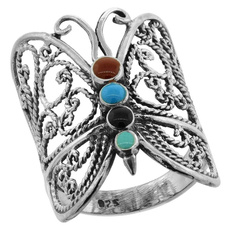 Sterling, butterfly, Turquoise, Fashion