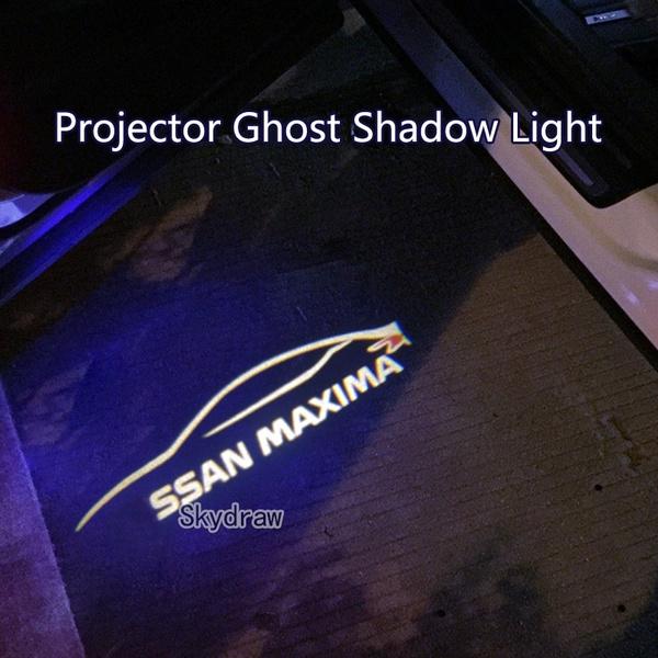 2 Piece/set For Nissan MAXIMA (2016-2018) Car LED Door Warning Light  Projector Ghost Shadow Light