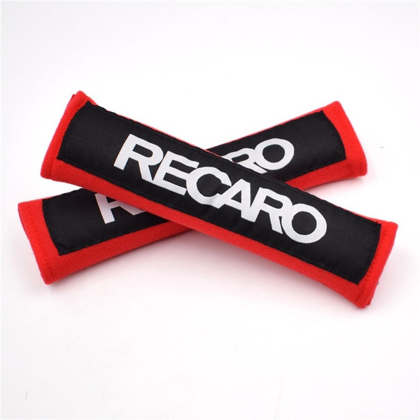 2018 New 1pair Jdm Style Recaro Black Red Cotton Auto Seat Belt Cover Shoulder Strap Pads For Universal Car Seat Belt Wish