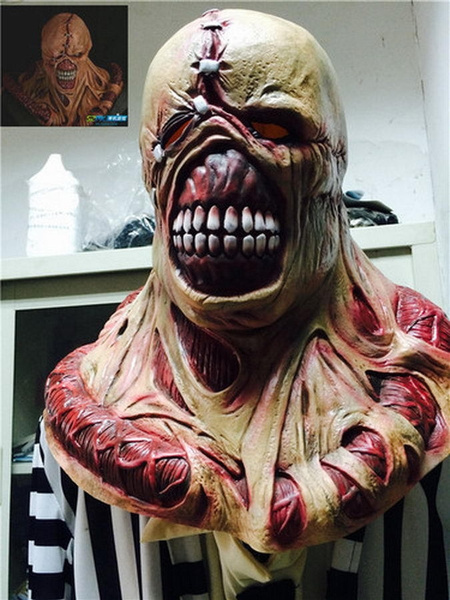 Resident Evil 3 Nemesis Mask Zombie Game Cosplay Prop Replica for Halloween