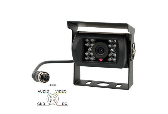 4 PIN Car IR 18-LED Truck/Bus/Van Reversing CCD Camera Rear/Side View Camera