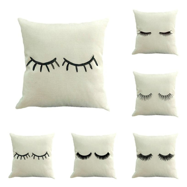Magnificent Hotel Home Decor Funny Eyelash Cushions Covers Lips Decorative Throw Pillow Cover Lashes Pillows Cases All Size 45X45Cm Forskolin Free Trial Chair Design Images Forskolin Free Trialorg