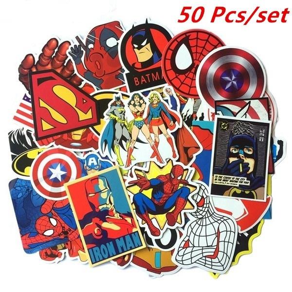 Luggage Skateboard Superman//DC Comics Car Vinyl stickers Computer