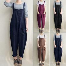 longtrouser, casualjumpsuit, Plus Size, pants