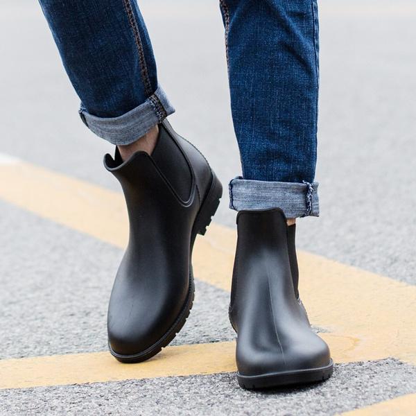 Rain Boots Fashion Chelsea Boots Men