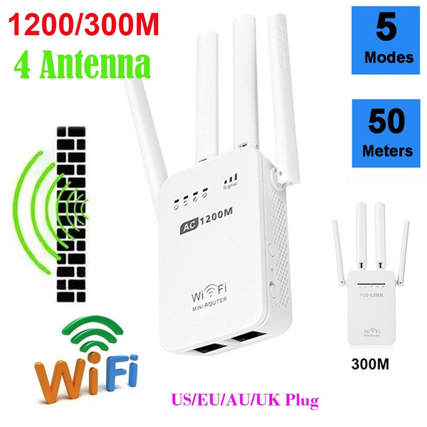 1200Mbps 2.4//5G Dual Band Wireless Range Extender WiFi Repeater Router 4 Antenna