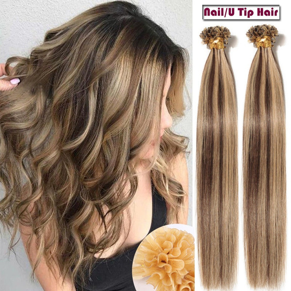 Geek Keratin Pre Bonded Nailu Tip Glue Remy Real Hair Extensions